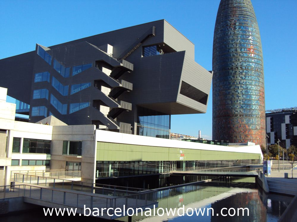 """The stunning new """"disseny hub"""" Barcelona and the famous Agbar Tower"""