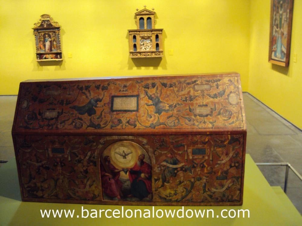 This chest represents the Host and was used in Easter week celebrations