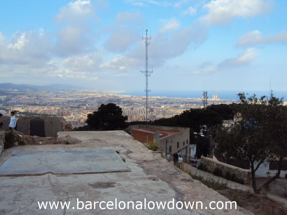 Looking north you can see Badalona and the Costa Maresme as far as Mataró