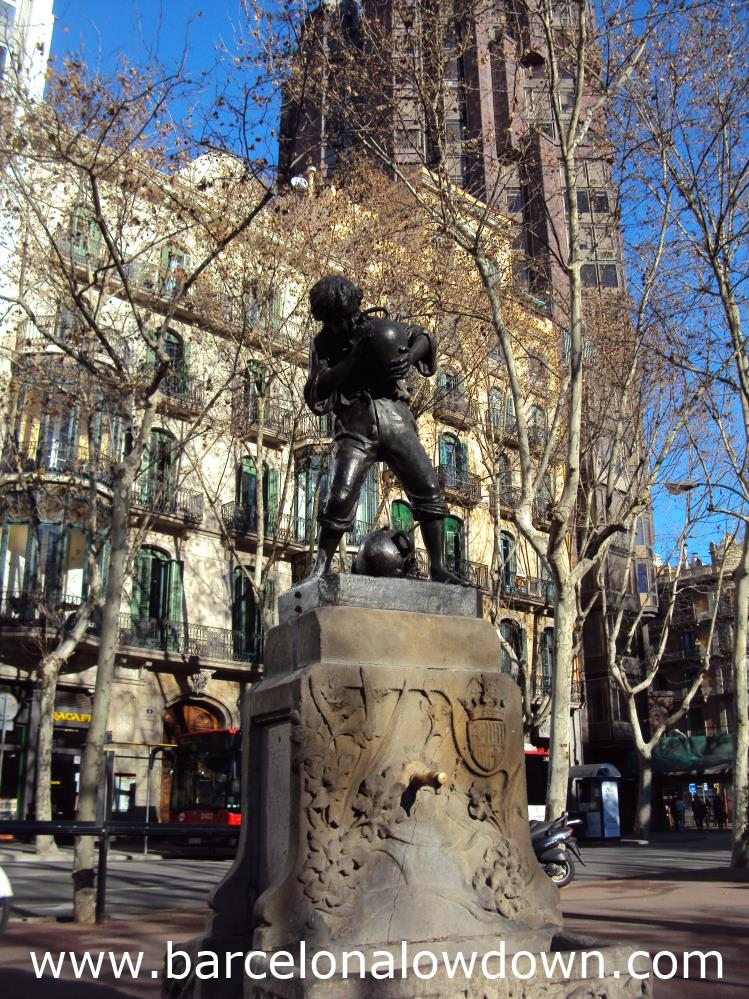 """The """"Font del Noi dels Càntirs"""" One of 3 Art Nouveau Fountains by Josep Campeny"""