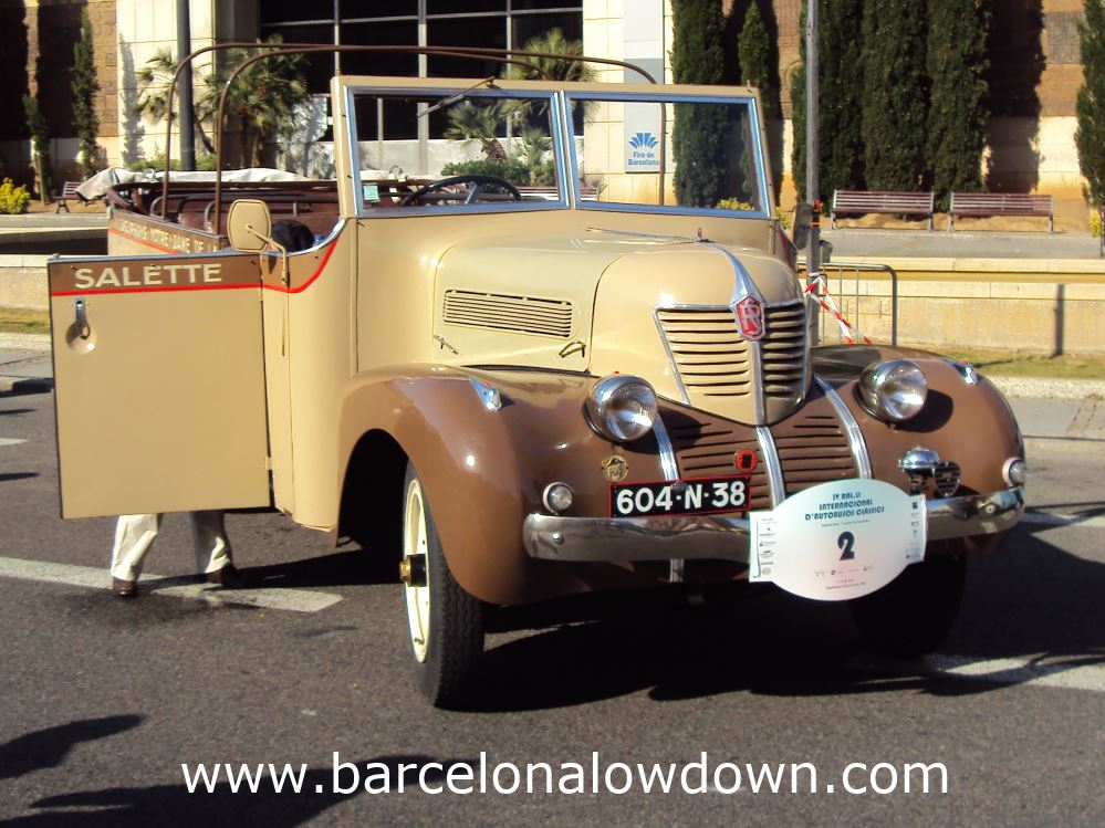 1927 Rochet Schneider/Chabourd 20 seater brown open top French bus ath the International Classic Bus Rally