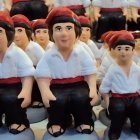 Caganers for sail at a Christmas Market in Barcelona