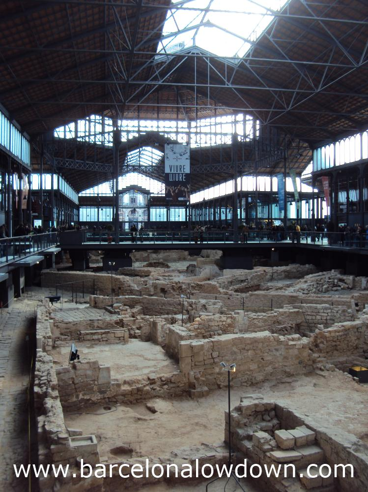 The remains of Barcelona from 1714 in the Born Cultural Centre