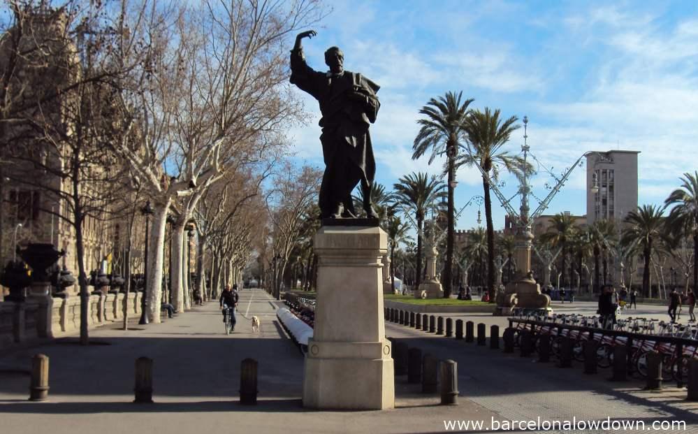 Monument to Pau Claris,Passeig Lluis Companys, Barcelona