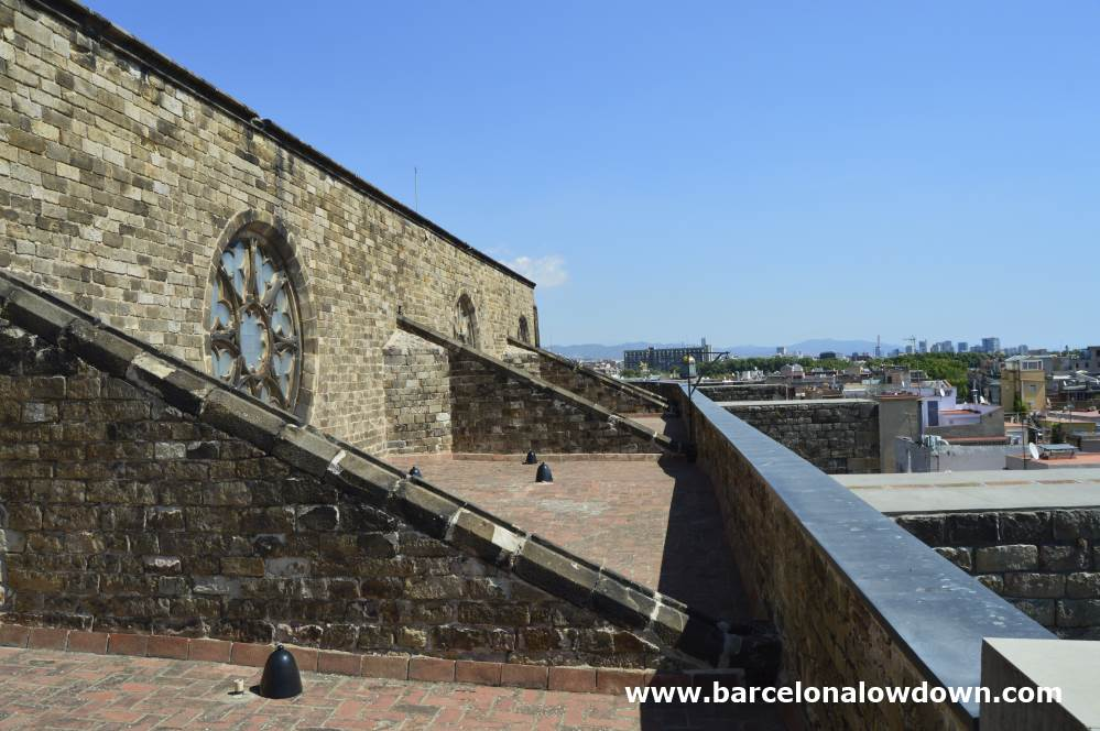 The roof terraces of Santa Maria del Mar our lady of the sea Barcelona