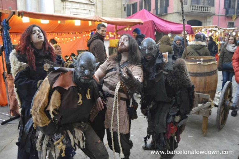 Orks, witches and warriors roam the streets at Vic Medieval Fayre near Barcelona