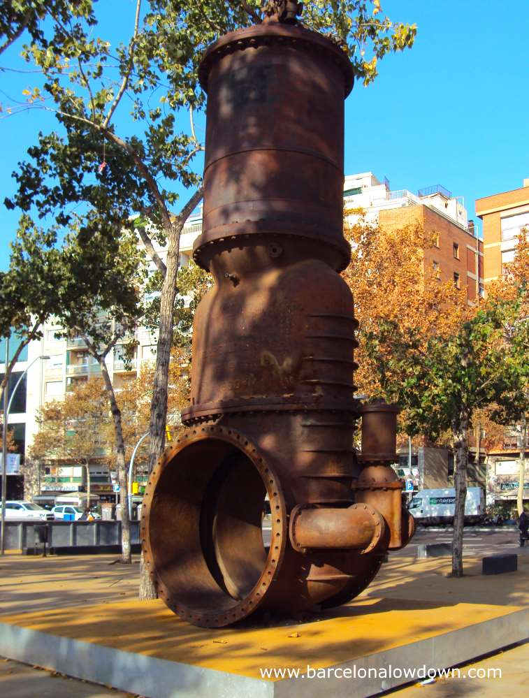 Part of the engine of the La Canadiense electricity generating power station in Barcelona's Poble Sec neighbourhood
