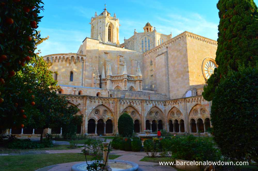 Inside the cloisters of Tarragona Cathedral