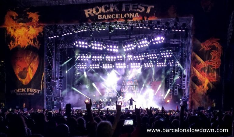 British metal band Saxon on stage at the Rock fest Barcelona 2017