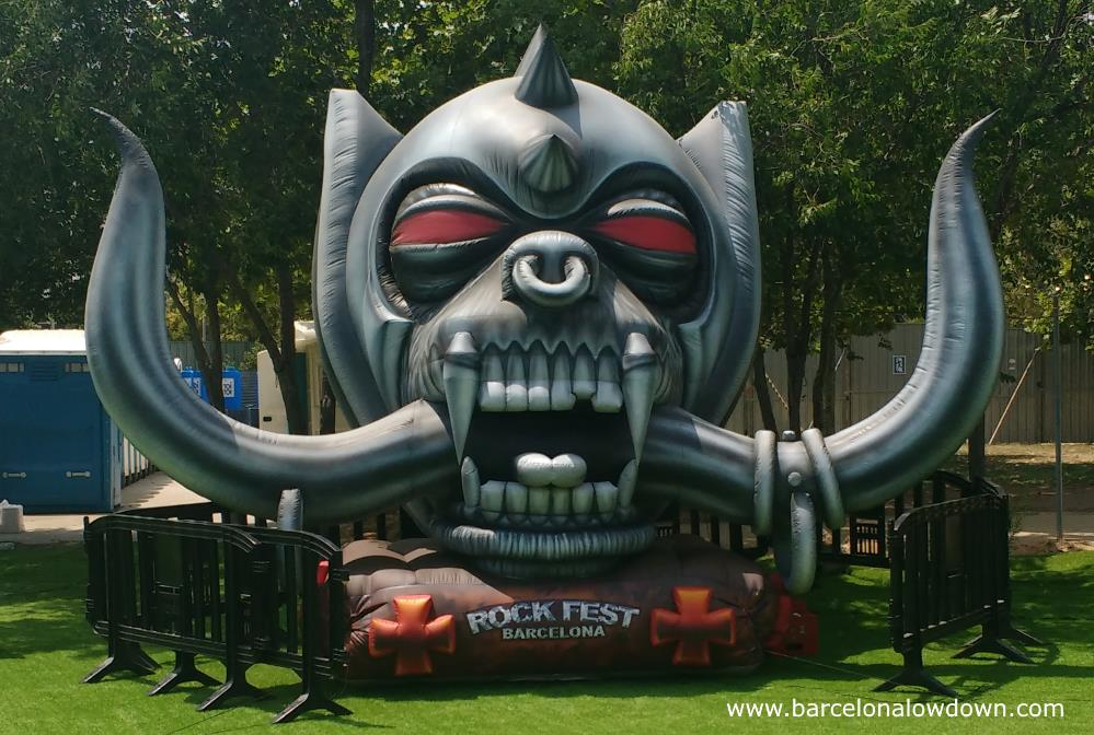 One of the photo oportunities at Rock Fest Barcelona - a large inflatable Motörhead logo
