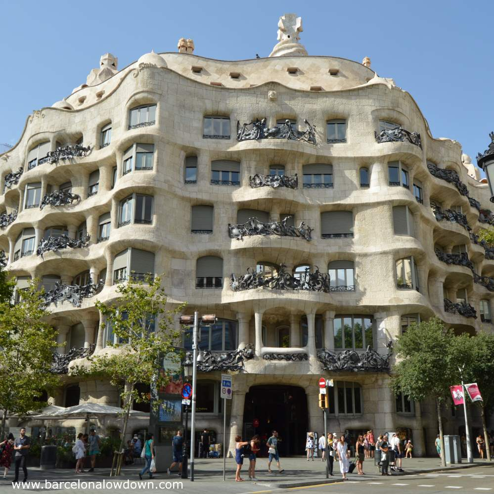 The Pedrera, one of the most popular spots for Instagram photography in Barcelona