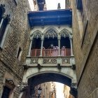 The Bishops Bridge Barcelona which is sometimes likened to a Catalan Bridge of Sighs