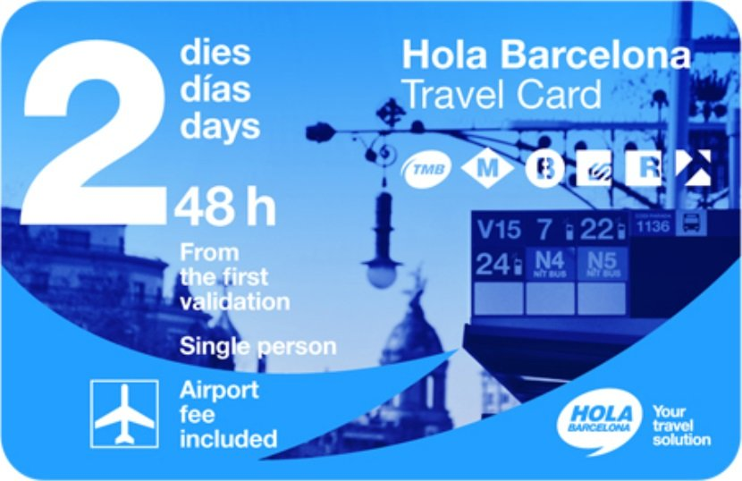 Hola Barcelona Travel Pass - the 48 hour version